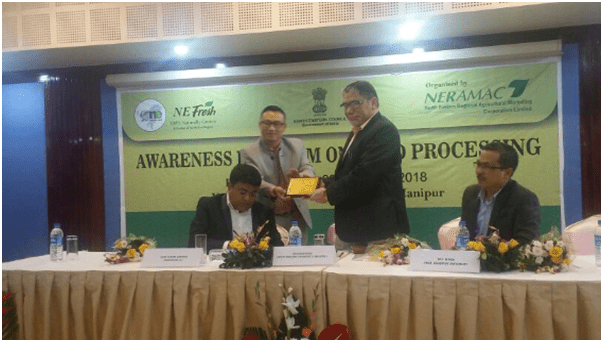Participation in Awareness program on Processing, Investors Meet, January 2018, Manipur