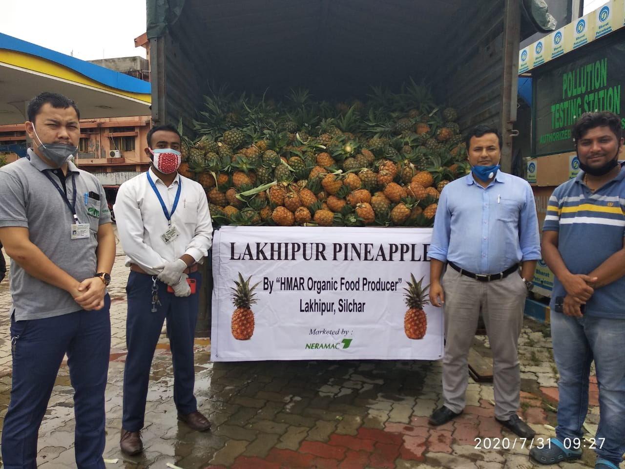 Procurement of pineapple from Silchar, Cachar 2020