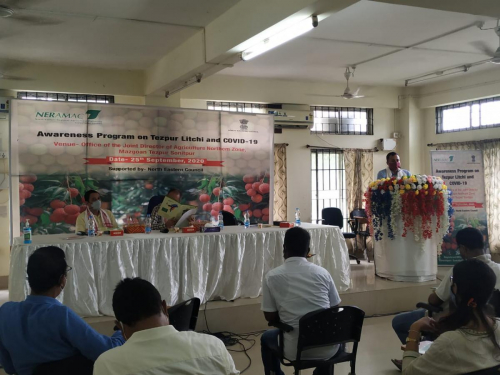 Awareness program on Tezpur Litchi & Covid -19 at Mazgaon, Tezpur
